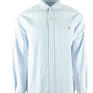 Ralph Lauren Blue/White Pinstripe Oxford Shirt